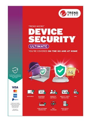 Official Trend Micro Device Security Ultimate Product Box with Home Network Security Device Box Image